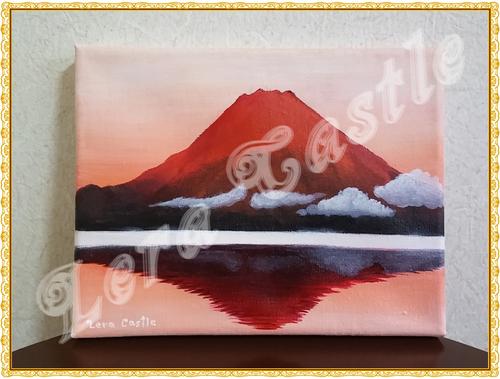 【縁起物・開運】赤富士