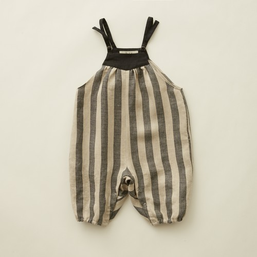 《eLfinFolk 2020AW》striped linen  baby rompers / stripe
