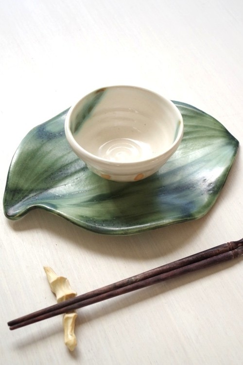 葉っぱのお茶セット