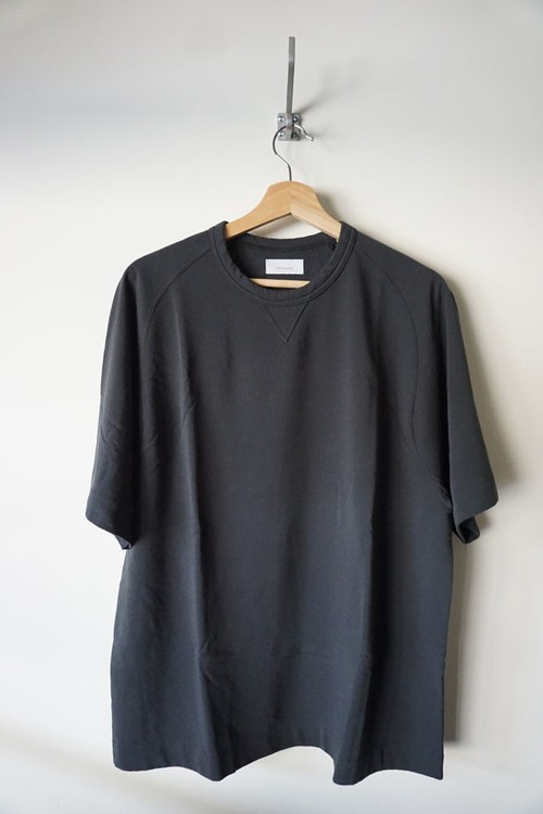 Fine Gauge Freedom Sleeve Sweat Shirt [ Dark Gray ]