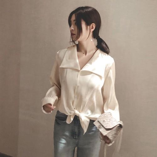 【トップス】新作甘め大人オシャレ風気質エレガント通勤ゆったりシャツ23582328