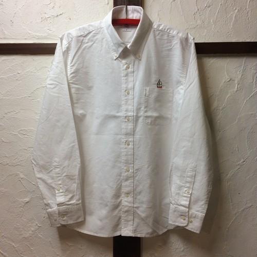 3107ソフトクリーム刺繍オックスフォードボタンダウンシャツ