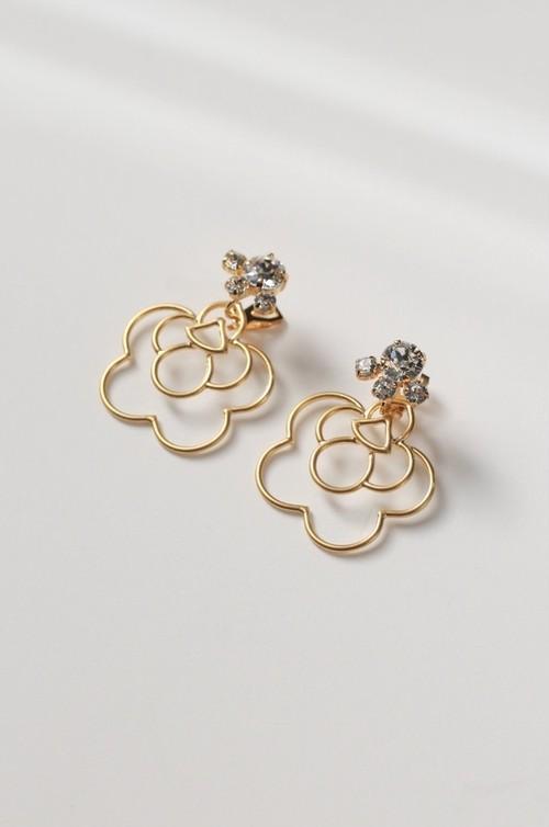 malamute × somnium cattleya earring[gold]