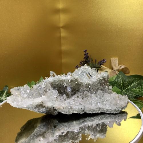 【超レア】ガネーシュヒマール産水晶クラスター(「絶対的な安心」「殻を破っていく力」「新しい世界への入り口」)