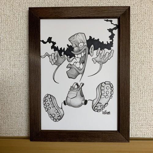 手描きピエロイラスト