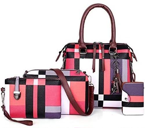 【超お買い得】4点セット H&X® レディース バッグ トート 手さげバッグ ショルダーバッグ 化粧品 コスメ ポーチ 財布 キーケース