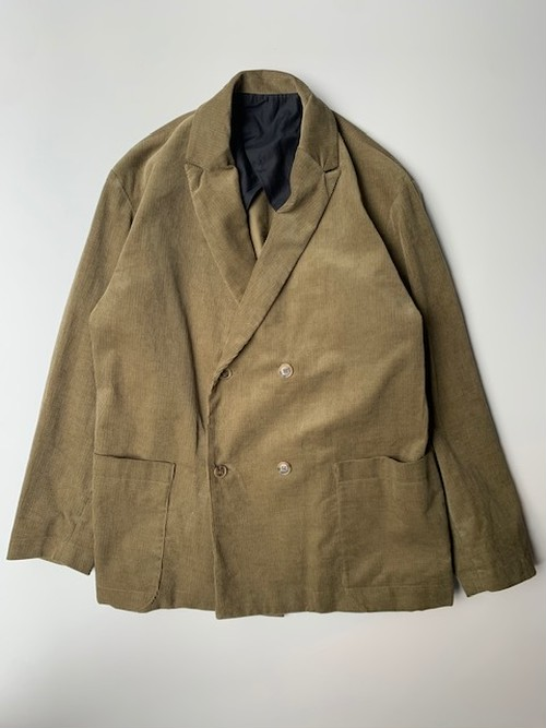 POLYPLOID DOUBLE BRESTED SUIT JACKET C KHAKI
