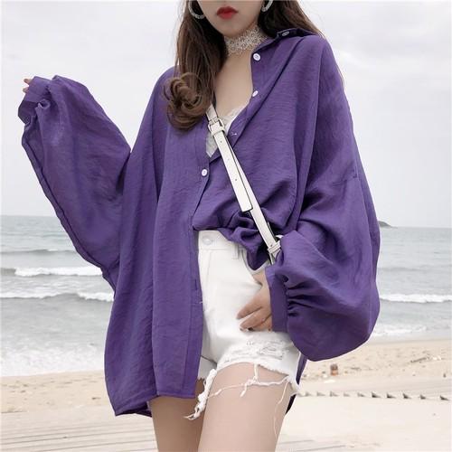 【トップス】シンプルファッションPOLOネックシングルブレストシャツ22489134