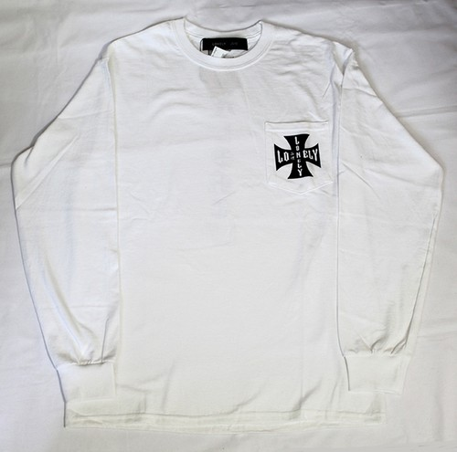 #7 IRON CROSS LONELY POCKET LONG SLEEVE / WHITE