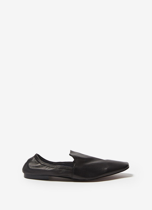 LEATHER MULES WITH COLLAPSIBLE HEEL