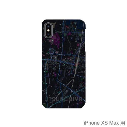 【宇都宮】地図柄iPhoneケース(バックカバータイプ・ブラック)
