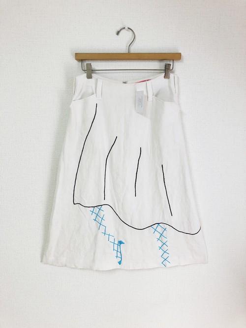 ハンドステッチスカート