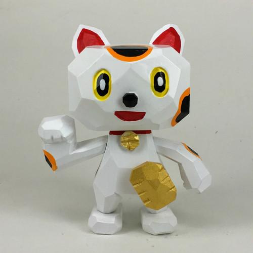 招き猫  白 (金運、幸運)