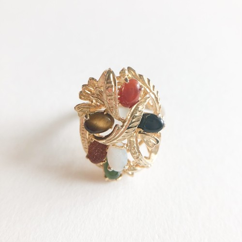 color stone ring #13 [r-121]