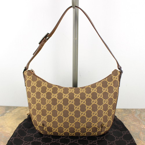 .GUCCI GG PATTERNED SHOULDER BAG MADE IN ITALY/グッチGG柄ショルダーバッグ 2000000043791