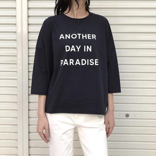 ご予約受付中!7月下旬納期【 siro de labonte 】- R143212 - 30/- highgauge cotton プリントプルオーバー(ANOTHER DAY IN PARADISE)