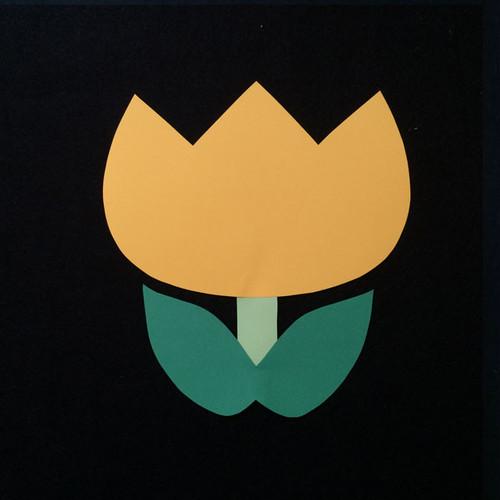 チューリップ(黄)の壁面装飾