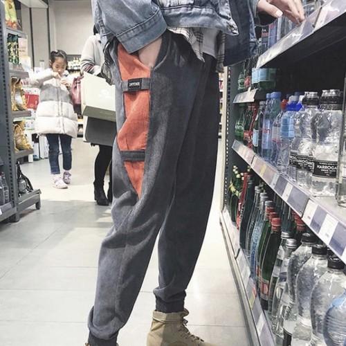秋冬 あったかツーラインカジュアルメンズパンツ 韓国風