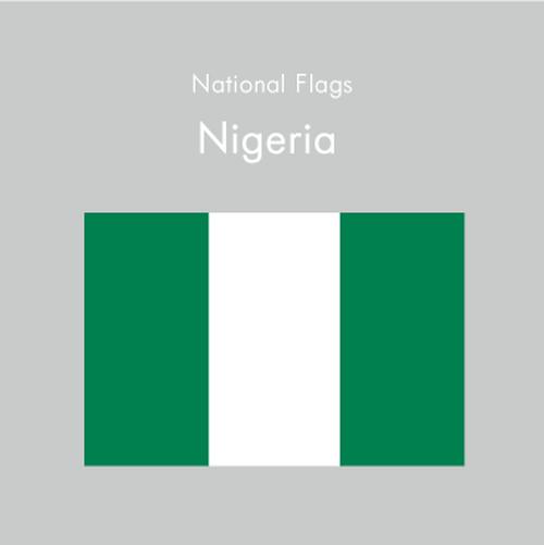 国旗ステッカー ナイジェリア