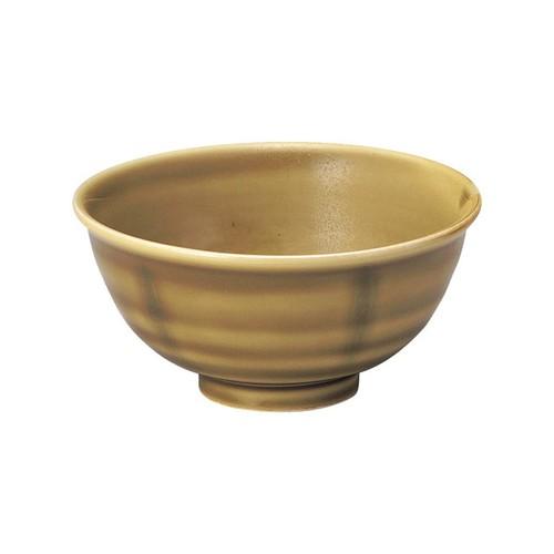 強化磁器 ろくべい茶碗 わら【2001-6020】
