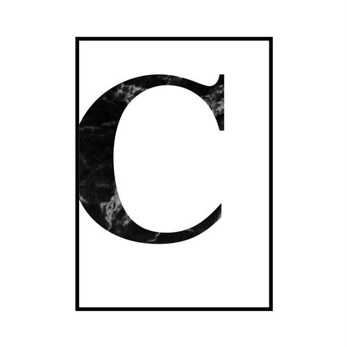 """C"" 黒大理石 - Black marble - ALPHAシリーズ [SD-000504] B4サイズ ポスター単品"