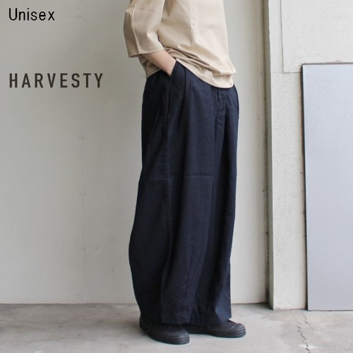 HARVESTY リネンコットンサーカスパンツ LINEN COTTON CIRCUS PANTS A11803 (NAVY)