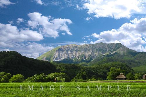 大山の見える景色