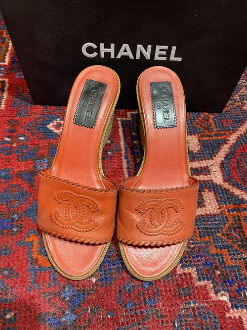 .CHANEL COCO MARC WEDGE SOLE SANDALS  MADE IN ITALY/シャネルココマークウェッジソールサンダル2000000049595