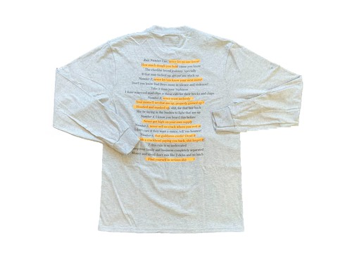 NOTHIN'SPECIAL / HIGHLIGHTER POCKET LS T-Shirt Grey