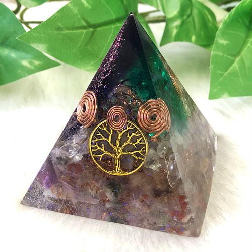 【一点物】ピラミッド型(大) オルゴナイト 生命の樹