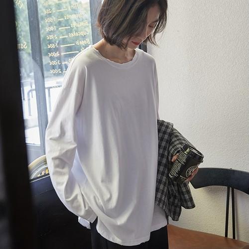 【トップス】新品ルーズ合わせやすい長袖ポロシャツ