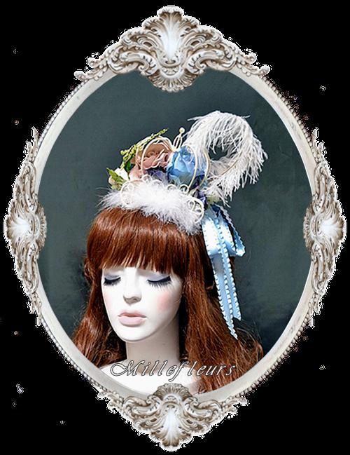 馬車と薔薇と蝶のヘッドドレス