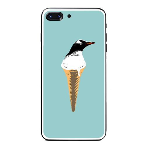 [強化ガラス仕上げ iPhone ケース]  cool biz penguin 2