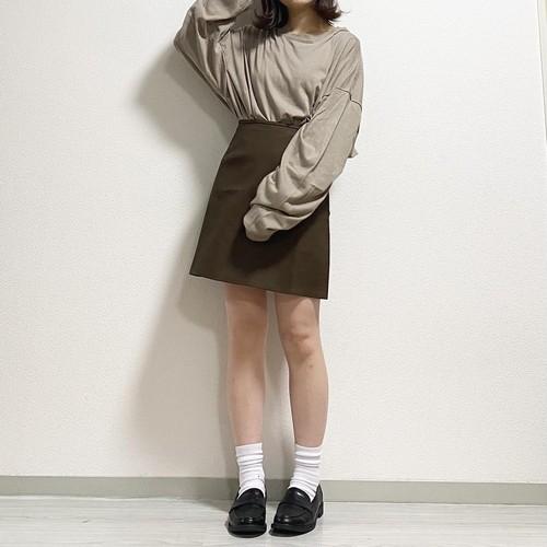 leather mini skirt《D-41》