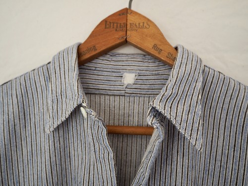 French Vintage grandpa shirt multi stripe