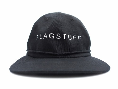 "BIG COTTON CAP""F-LAGSTUF-F"" BLACK"