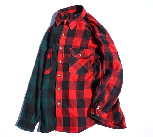 [UNION FLANNEL SHIRT] RED×GREEN size:M