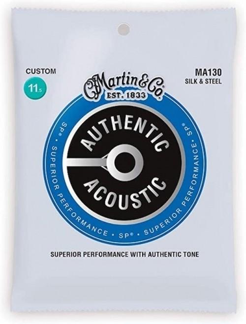 Martin(マーティン)/MA130 シルク&スチール アコースティックギター弦 アコギ弦 コンパウンド ゲージ