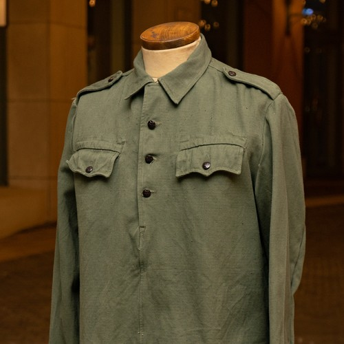 OLD BULGARIAN MILITARY PULLOVER SHIRT ONE WASH - 1