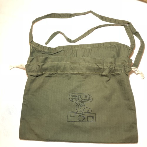 "3-Way Red Cross Bag, O.D.Green, ""Curse This Stupid"" War"""