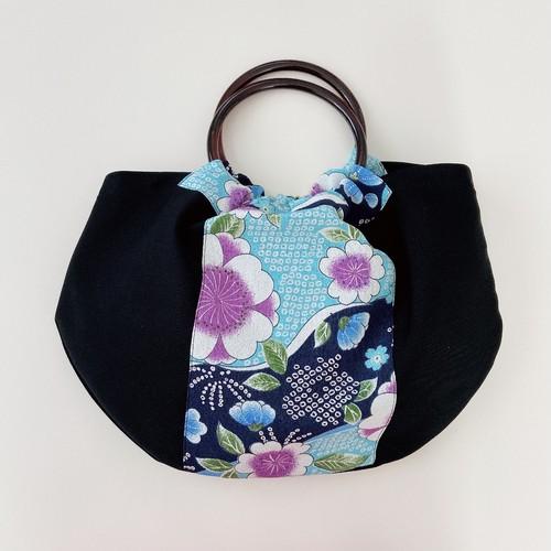 和鞄(梅に疋田*瑠璃色)