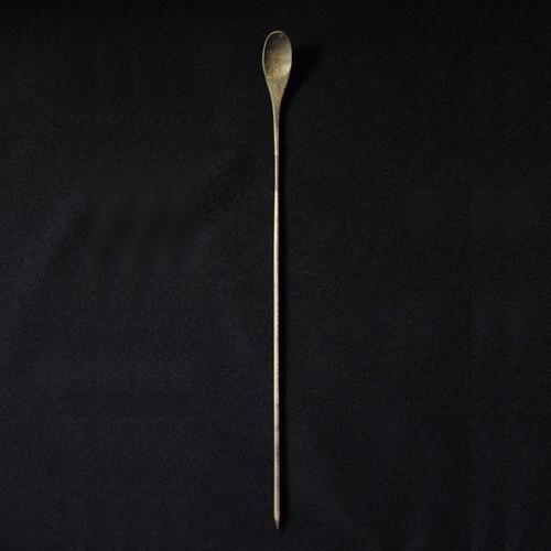 北山栄太 Eita Kitayama  メイプル茶匙 グレイ/ヤシャブシ(草木染+鉄焙煎)