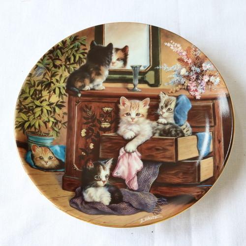 ☆人気☆  KAHLA 高級陶器 ヴィンテージ 猫皿 絵皿