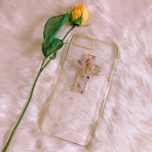 cross iPhone case (天然石)