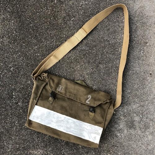 70's Euro Military Bag 1975 チェコ軍 コットンキャンバス ショルダーバッグ ビンテージ ユーロ ミリタリー ステンシル入り