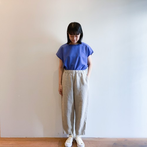 C-30413 Heavy Linen Soft Tapered Pants