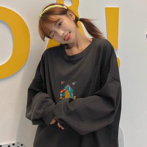 【トップス】ゆったりファッション韓国系ストリート系合わせやすい学園風長袖パーカー23313890