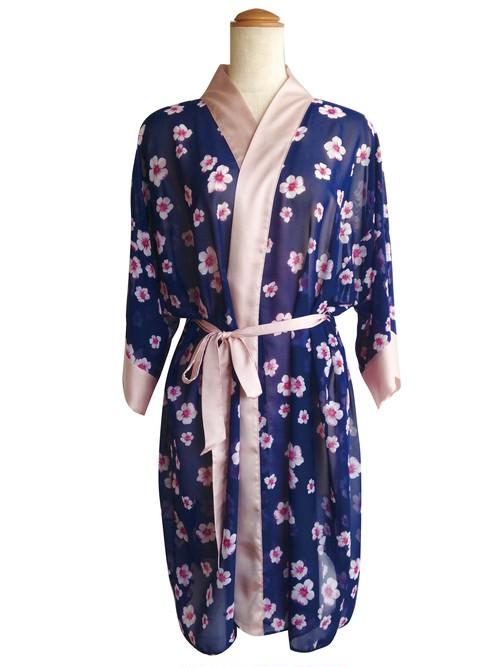 Medium Robe Sakura Navy ミディアムローブサクラネイビー