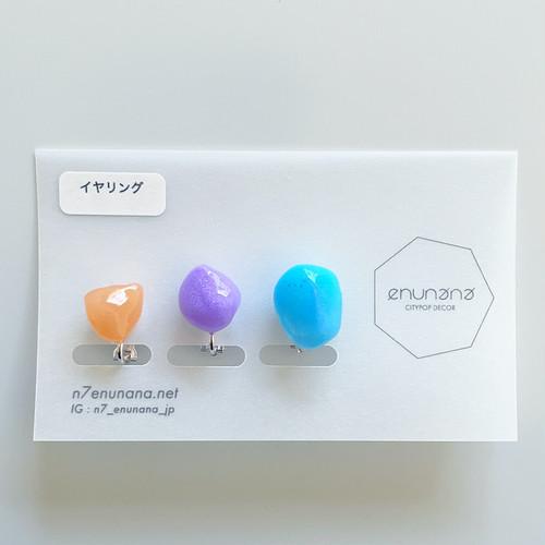 """N7enunana """"Plastic gem"""" イヤリング"""