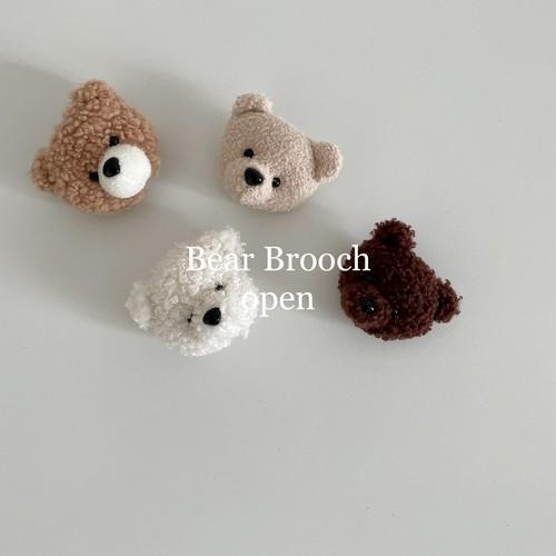 『翌朝発送』bear brooch〈aladin kids〉